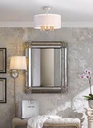 a semi flushmount light featured in a welcoming entryway