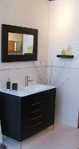 bathroom remodel black vanity. Delighful Bathroom Black Vanity With White Glass Sink And Tile To Ceiling Border  Tub And Bathroom Remodel Vanity