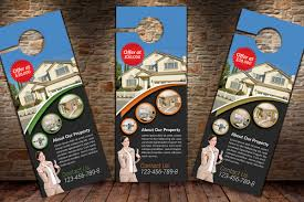 door hanger design real estate. Real Estate Agency Door Hangers Example Image Hanger Design E