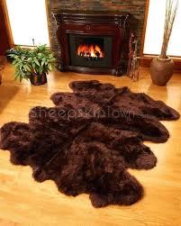 chocolate brown sheepskin rug espresso extra large 8 pelt ft in
