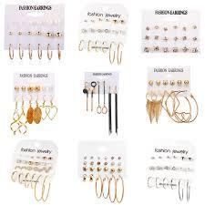 NEWBUY <b>Vintage</b> Geometric <b>Acrylic Earrings</b> For Women Gold ...