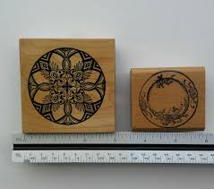 Asian rubber stamps, sake cup stamps