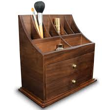 ikee design premium wooden cosmetic storage office organizer box com