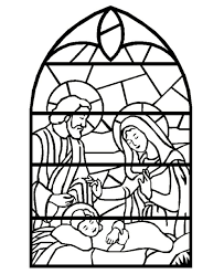 Stained Glass Window Coloring Pages For Download Free Jokingart