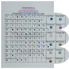 Swarovski Ab Color Chart Preciosa Machine Cut Rhinestone Color Chart
