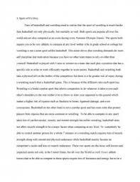 contrast basketball and wrestling essay similar essays