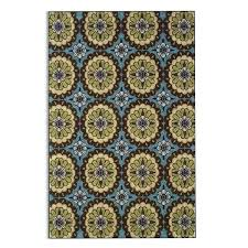 blue and brown rug fl blue brown indoor outdoor area rug blue brown beige rug