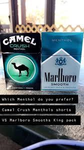 Camel Crush Menthol Lights Good Morning Smokers