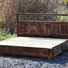 rustic platform beds with storage. Interesting Platform Design Buy Custom Rustic Platform Storage Bed In Solid Reclaimed Oak And  Intended For Beds Ideas On With S