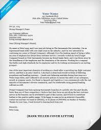bankteller cover letter bank teller resume cover letter