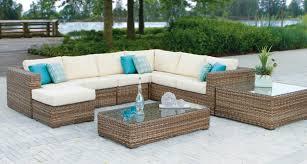 nottingham sectional with sunbrella cushions sectional wicker ratana sunbrella patio furniture insideout