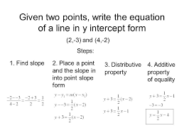 7 1 slope objectives find the of a line given lesson 5 3 writing an equation given two points