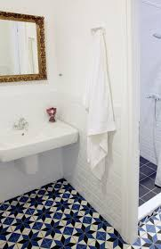 bathroom floor tile blue. Blue Bathroom Tiles + White Brick Wall Floor Tile L