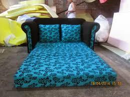 sofa bed minimalis blue sbm2217