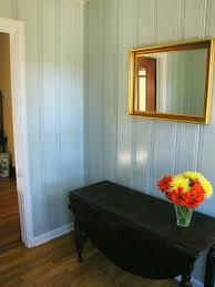 blue paint on knotty pine knotty pine