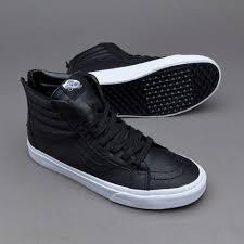 vans sk8 hi reissue zip mens shoes premium leather black true white