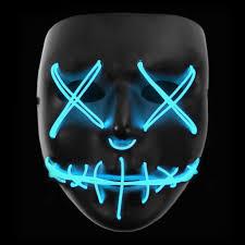 Light Up Mask Stitched Led Lighted Mask Blue Lightupmasks