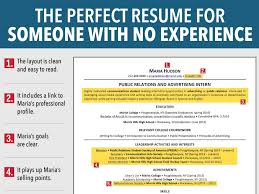 How To Make Resume For Job With No Experience Resume For Job Seeker With No Experience Business Insider 4