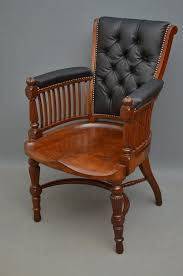 victorian office chair. Late Victorian Office Chair Mahogany Desk