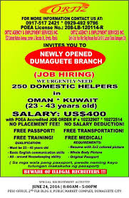 Jobs Hiring Without Resume Public Employment Service Office Dumaguete City Overseas Job 26