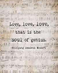 Musical Love Quotes Mesmerizing Soul Of Genius Mozart Quote Music Love Quote Musical Notes Vintage
