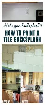 Removing Tile Backsplash Impressive How I Transformed My Kitchen With Paint Crafts DYI Pinterest