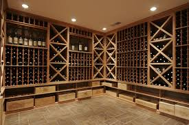 comely wine cellar design with stackable also column racks made of wooden material box version modern wine cellar furniture