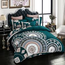creative dark green duvet cover