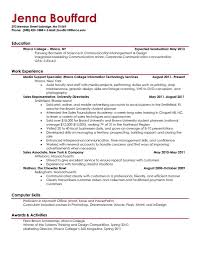 Student Resumes Template Resume Template For College Student Graduate Example And