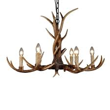 deer horn chandeliers 6 heads country antler chandelier retro resin deer horn chandelier lighting restaurant home light modern deer antler chandeliers on