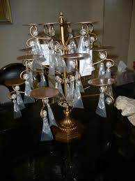 one other image of chandelier cupcake stand