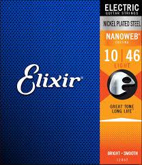 Elixir 12052 10 46 Nanoweb Light Electric Guitar Strings