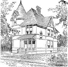 Small Picture victorian homes Coloring Pages for Adults Victorian house
