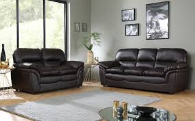 Magnificent Dark Brown Leather Sofa with Rochester Dark Brown
