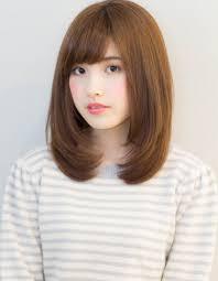 ひし形シルエットのミディアムスタイルkj 14 ヘアカタログ髪型