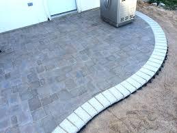 concrete patio pavers elegant how to build a kidney bean shaped paver patio diy types