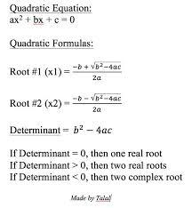 picture of quadratic equation solver in c