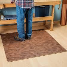 wood grain interlocking anti fatigue floor mats light and dark