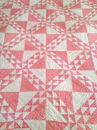 Best 25+ Two color quilts ideas on Pinterest | Half square ... & Antique Quilt, Beautiful Pink and White Quilt, Double Pinks, Ocean Waves  Hourglass Quilt Adamdwight.com