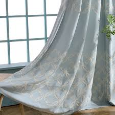 embroidery linen curtains for living room modern bedroom voile curtain hydrangea printed window screening custom made