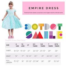 Dotdotsmile Empire Dress Size Chart In 2019 Size Chart