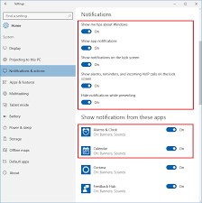 Calendar Creator For Windows 10 How To Customize Notifications On Windows 10 To Make Them Less