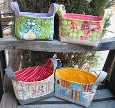 Ye Olde Sweatshop: Quilted Fabric Baskets & Quilted Fabric Baskets Adamdwight.com