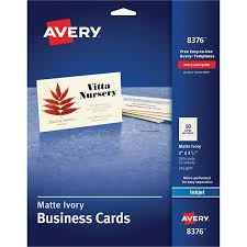 Avery 8371 Business Card Template Avery Printable Microperf Business Cards Inkjet 2 X 3 1 2 Ivory Matte 250 Pack