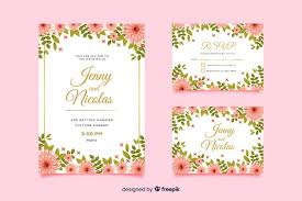 Wedding Invitation Card Template And Rsvp Vector Free Download