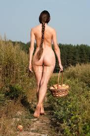 Rural Scene Beautiful Naked Woman On