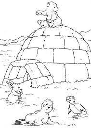 Small Picture Lars the Little Polar Bear Sitting on an Igloo Coloring Pages