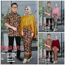 Model baju batik couple untuk acara resmi. Jual Cp Kebaya Muslim Wanita Pakaian Pesta Kondangan Model Fashion Hijaber Kekinian Rok Batik Couple Kemeja Pria Baju Pasangan Anggun Elegan Mewah Murah Di Lapak Toko Jane Bukalapak