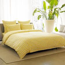 image of duvet cover geometric yellow