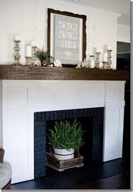Fireplace mantel cap to cover outdated mantel